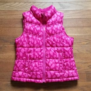 Girls Old Navy Hot Pink Puffer Vest, Size S